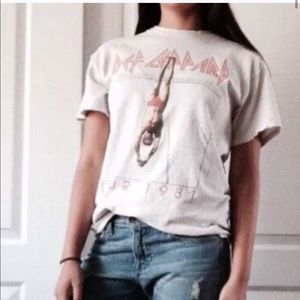 Free People for Live Nation Def Leppard 1981 Tee M